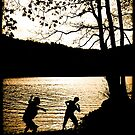 Throwing stones, Grasmere by beanphoto