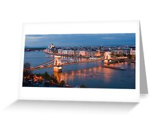 The Danube flowing through Budapest Greeting Card