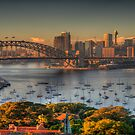 Then There Was LIght - Sydney Harbour Sydney Australia - (25 Exposure HDR Panorama) The HDR Experience by Philip Johnson
