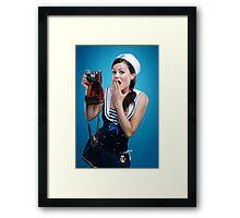 """Oups"" Pin-up Girl Framed Print"