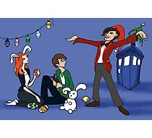 The Doctor is Late: Happy Holiday Greetings! Photographic Print