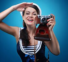 """Pose just like this"" Pin-up Girl by Laura Balc Photographer"