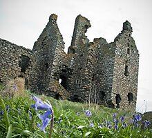 Dunskey Castle (angled) by Chris Cardwell