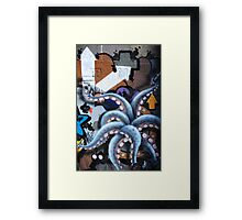 Graffiti art, Glasgow Framed Print