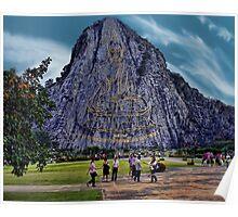 ¸.•*´♥`*•.Khao Chee Chan~ Buddha Montain Pattaya Thailand ¸.•*´♥`*•. Poster