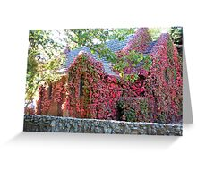 Vine Covered Church at Gostwyck. Greeting Card