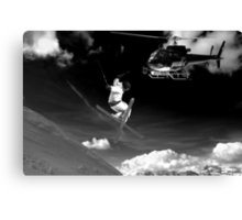 ski jump stunt Canvas Print