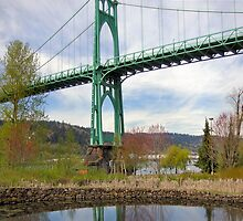St Johns Bridge, Portland, Oregon by Don Siebel