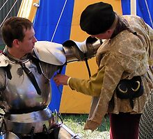 Armouring a knight, a hell of a Squire's Job! by patjila
