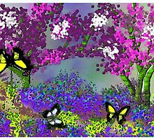 The Butterfly Park Landscape by Lynn Sherer