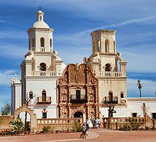 Mission San Xavier del Bac by Barbara Manis
