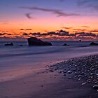 Sunset Over Aphrodite&#x27;s Beach by Aj Finan