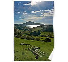 Neglected gate - Otago Peninsula, New Zealand Poster