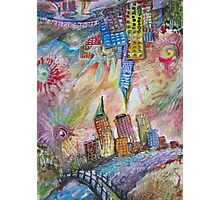 Upside down Town Photographic Print