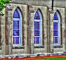 windows of a church in SC by henuly1