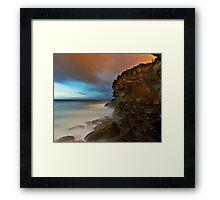 Wet Cliff Framed Print