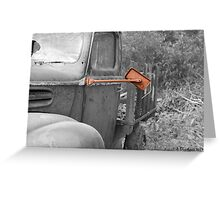 Rear View - Mirror on 1942 Ford Greeting Card