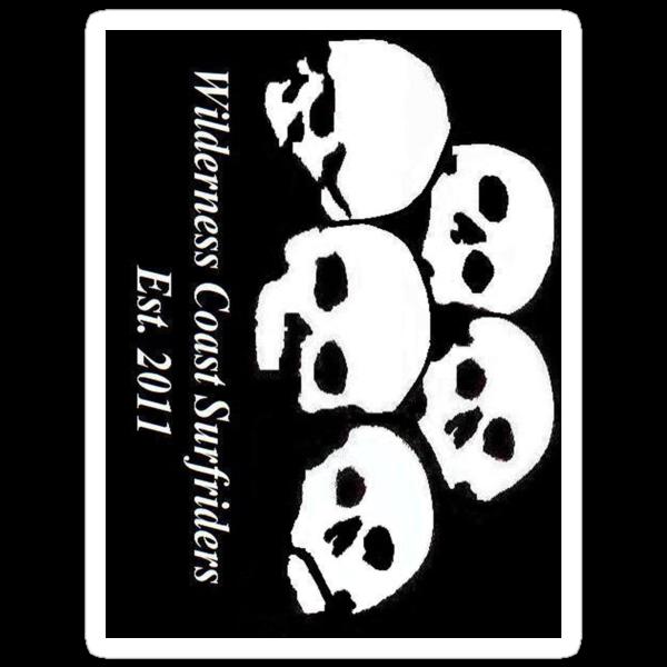 Wilderness Coast Surfriders - Skulls - Sticker by wcsurfriders
