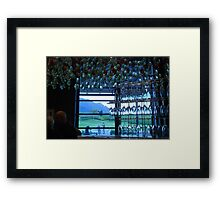 cheers. from a vineyard in cape town. Framed Print