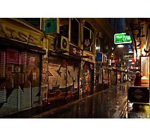 Center Place The Peoples Laneway Melbourne Photographic Print