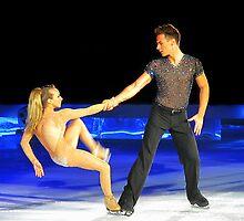 ice skating  (mat and nina) by brett watson