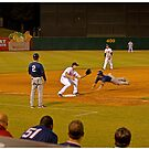 Safe!!! Stealing Third Base by Buckwhite