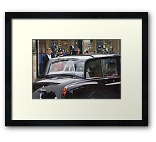 CATHRINE MIDDLETON AND HER DAD MICHAEL  Framed Print