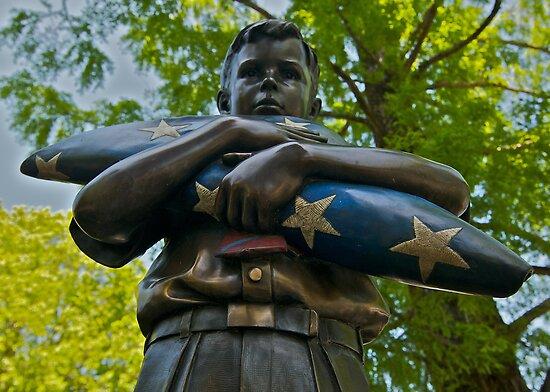 War Memorial Statue Healdburg Plaza by Ken Scarboro
