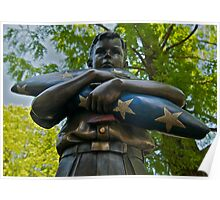 War Memorial Statue Healdburg Plaza Poster