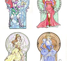 Steampunk Ladies of Disney by Karen  Hallion
