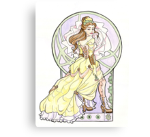 Steampunk Belle Nouveau Canvas Print