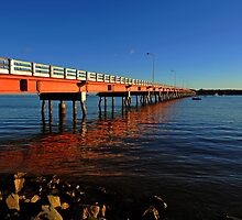 Bribie Island Bridge. Queensland, Australia. by Ralph de Zilva