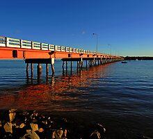 Bribie Island Bridge. Queensland, Australia. by Ralph de Zilva