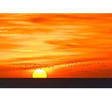 Sunrise From Whitburn Photographic Print