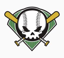 Skull Baseball by DetourShirts