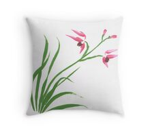 Chinese Orchade Throw Pillow