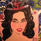 Wanda Jackson Nail Polish Make Up Folk Art by Ambur Rockell
