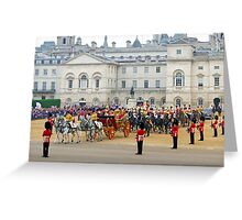UK, England, London, Horse Guards Parade, Royal Wedding Greeting Card