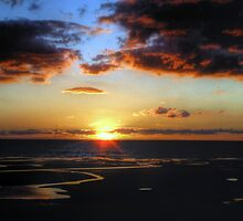 Cleveleys Sunset by Victoria limerick