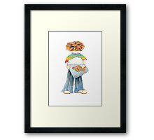 Children with fish Framed Print