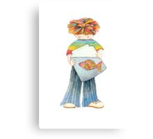 Children with fish Canvas Print