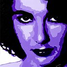 Elizabeth Taylor in Purple 002 by Greg Allen