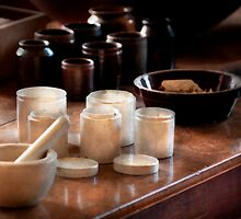 Pharmacist - Pestle and cups by Mike  Savad