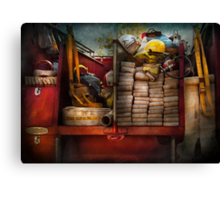 Fireman - Fire equipment  Canvas Print