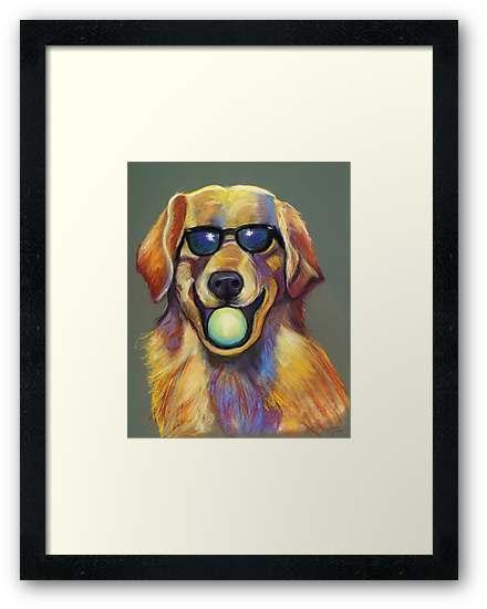 Golden Retriever with Tennis Ball by Ann Marie Hoff
