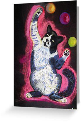 Juggling Cat by Ann Marie Hoff