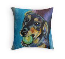 Heinz 57 Black and Tan Dog Throw Pillow
