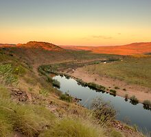 big bend at sunrise by Les Pink