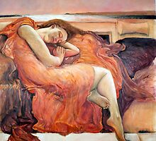 La Femme D'Argent_OilonLinen by MrMumford