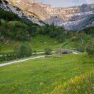 cirque de gavarnie stone bridge by Les Pink